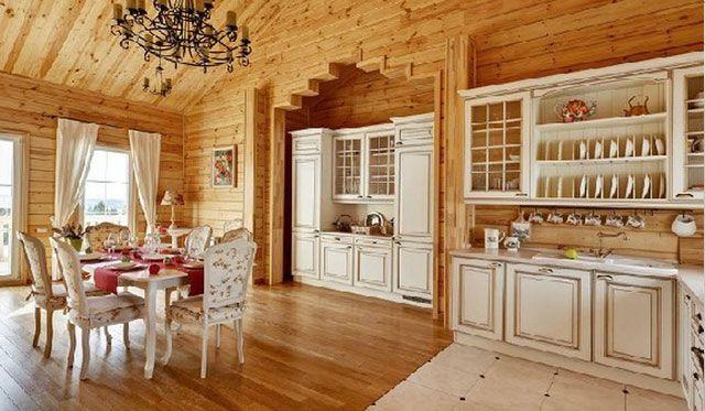 белая кухня в деревянном доме кухня Pinterest Kitchen Design