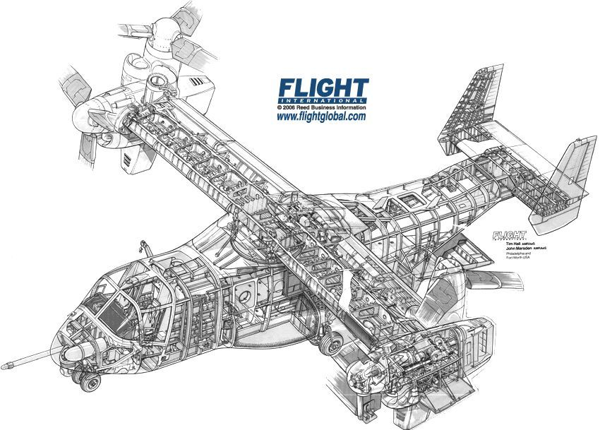 Excellent Bell Boeing V 22 Osprey Cutaway Aircraft Aviones Avion Dibujos Wiring Cloud Hisonuggs Outletorg
