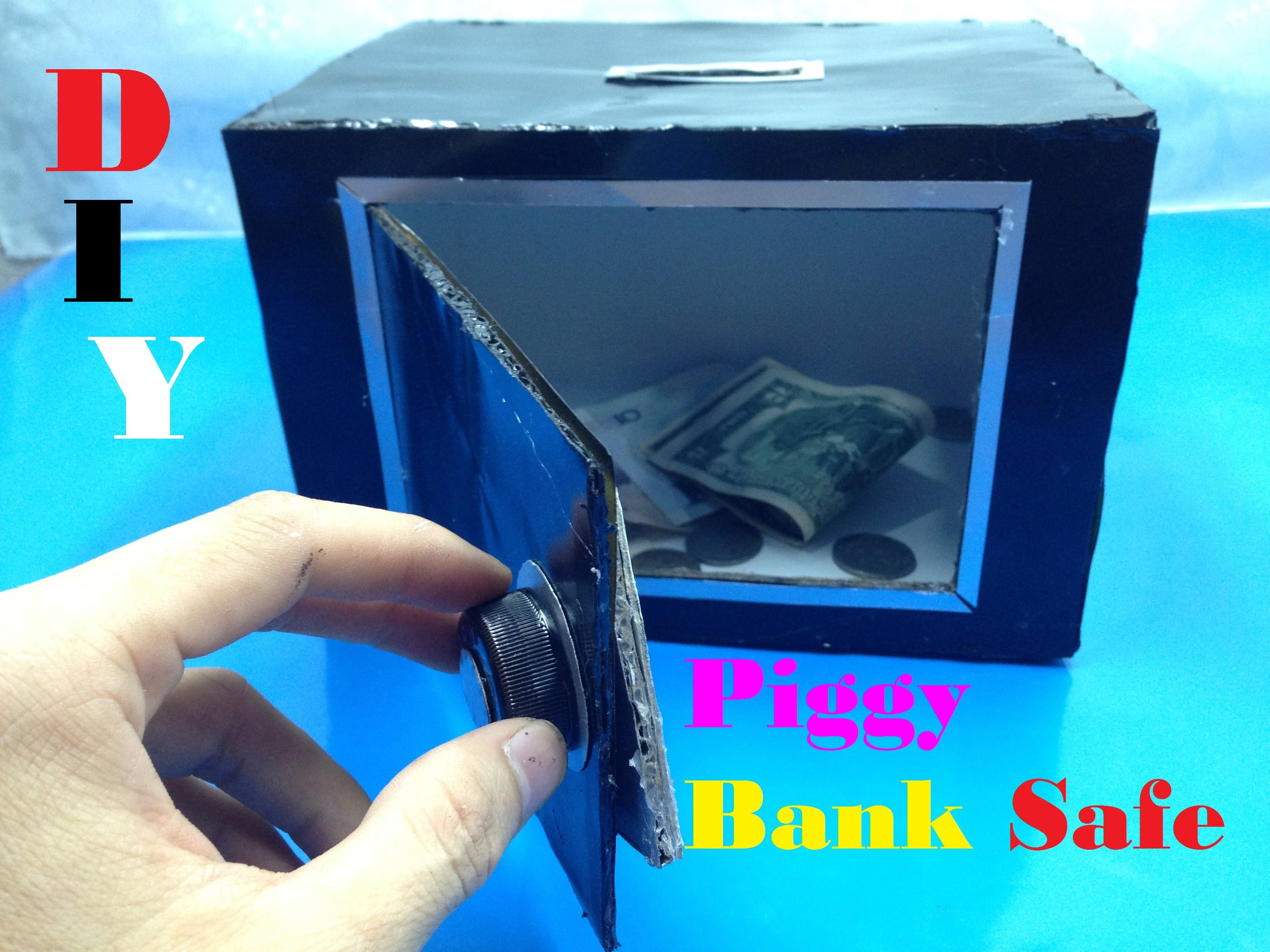 How to make piggy bank safe at home diy tutorial for How to make a coin bank