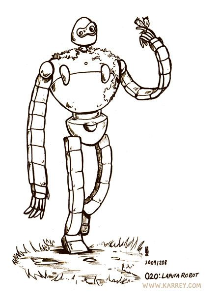 Robot Guard From Laputa Castle In The Sky Studio Ghibli What Up