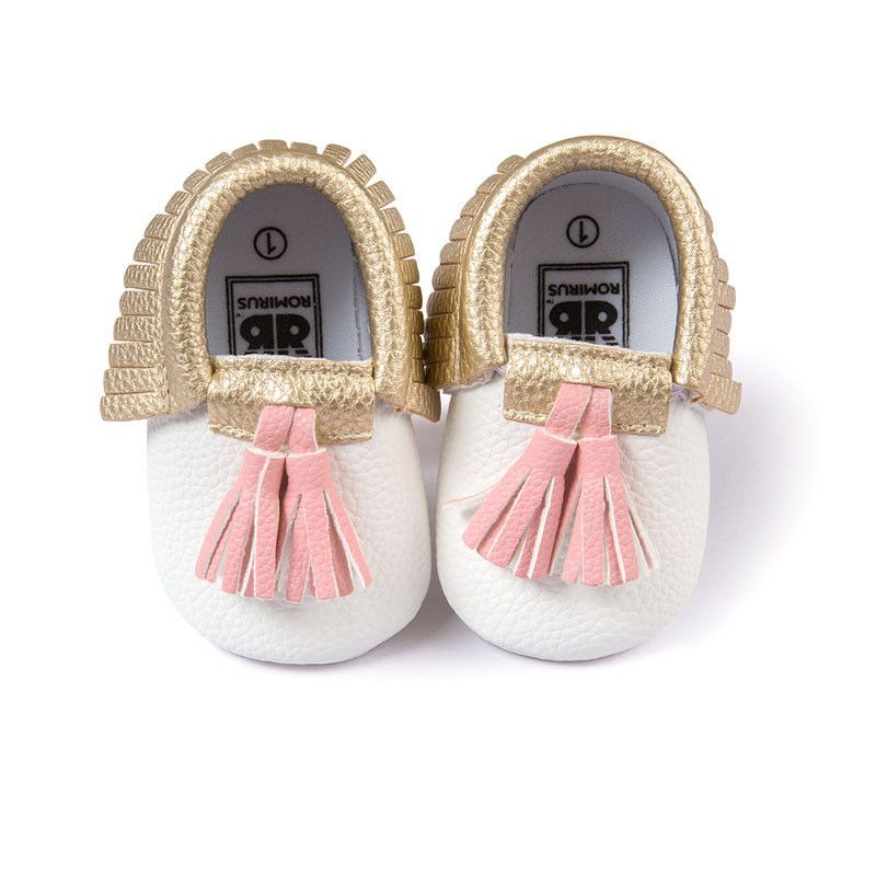 Two Tone Tasseled Moccasins 16 Colors Baby Girl Shoes Baby Moccasin Shoes Baby Shoes