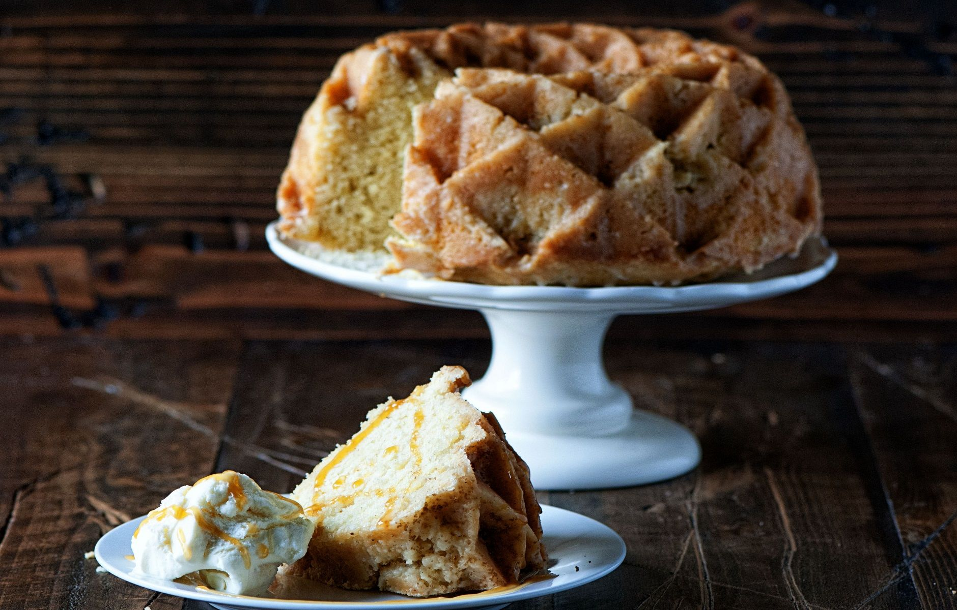 A Simple Vanilla Buttermilk Pound Cake Brushed With A Cognac Glaze And Sprinkled With Vanilla Bourbon Sugar Yo In 2020 Baking Recipes Buttermilk Pound Cake Pound Cake