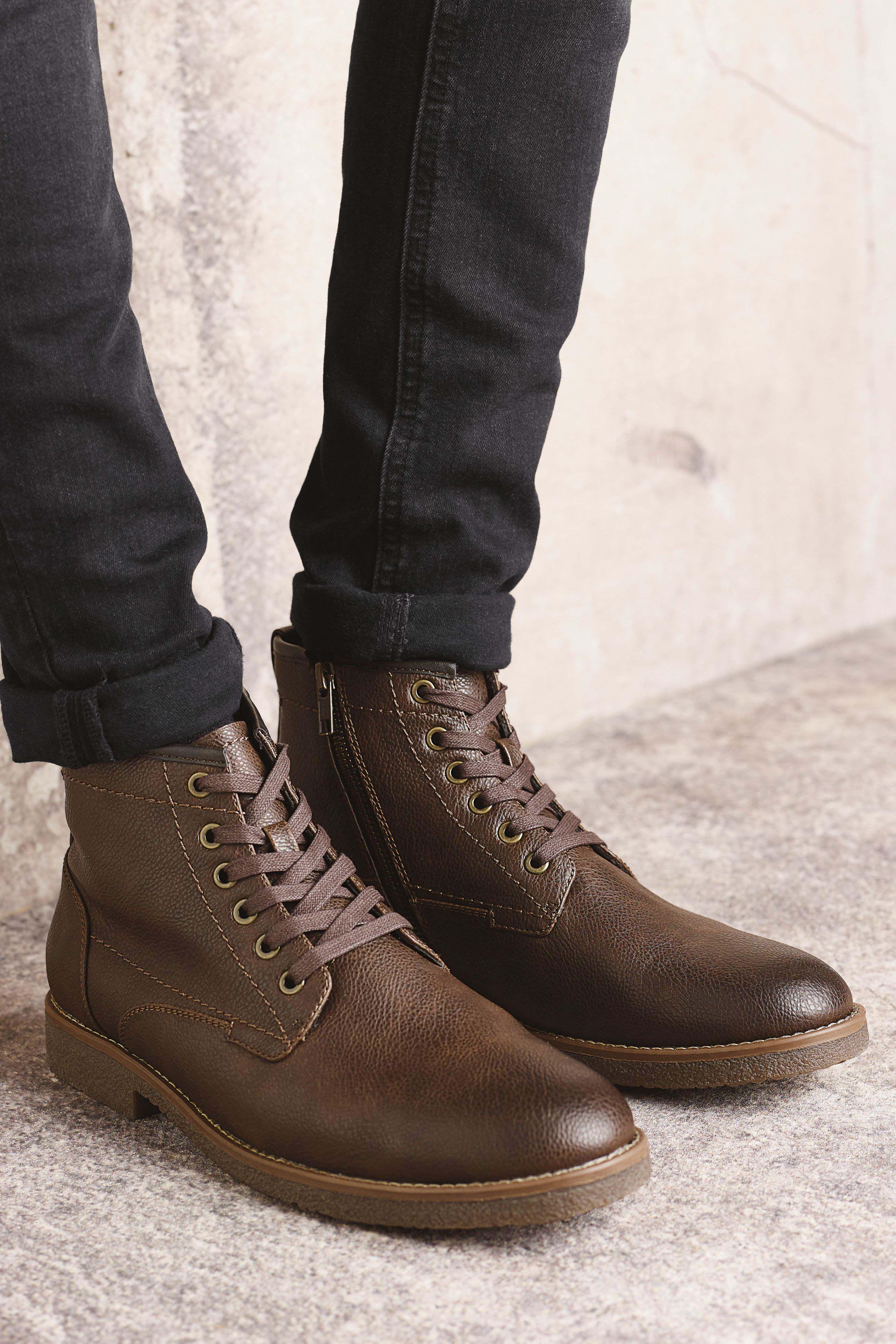 Brown boots, Boots, Dress shoes men