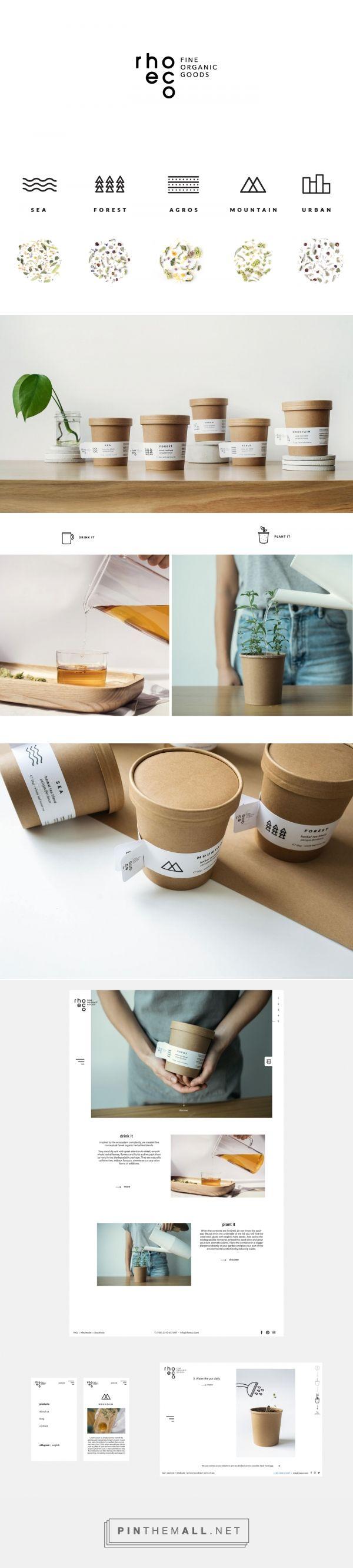 rhoeco sustainable tea packaging design by We design - http://www.packagingoftheworld.com/2017/01/rhoeco.html