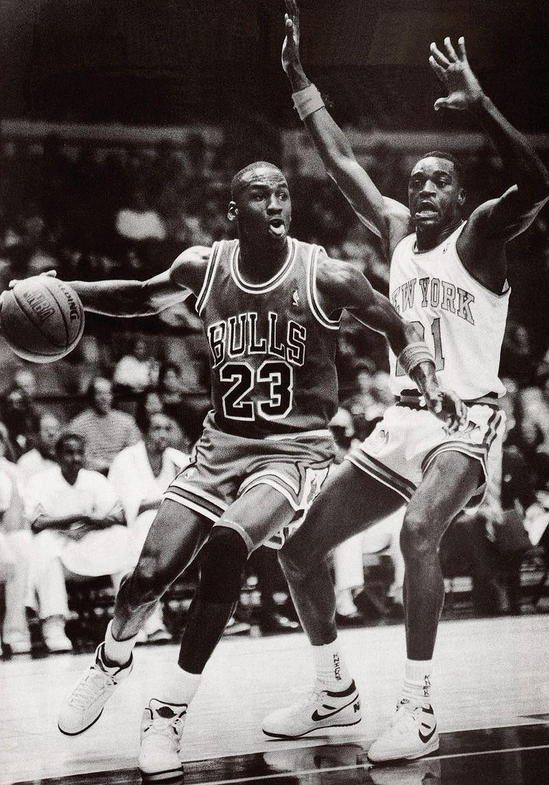Michael Jordan Chicago Bulls Gerald Wilkins New York