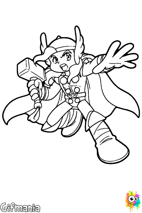Thor Niño Thor Dibujo Anime Imágenessincolor