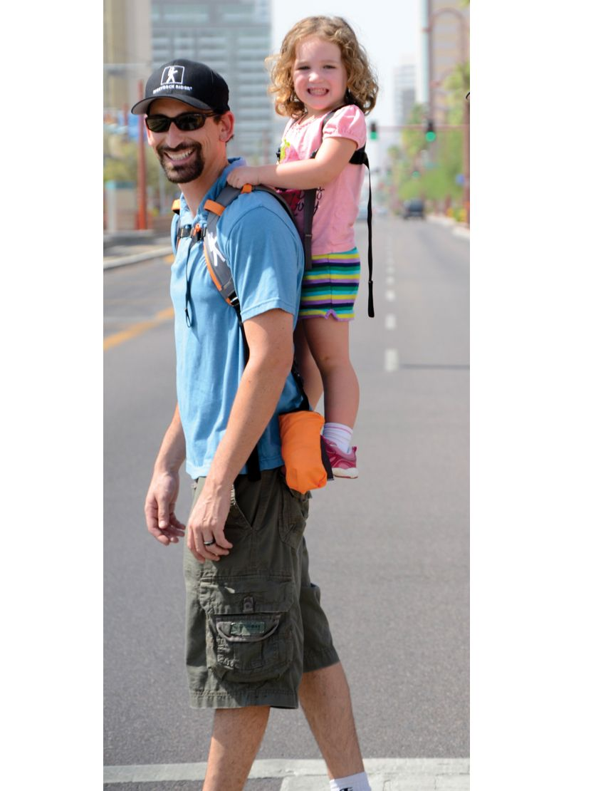 fb33e58afe9 The multi-award-winning Piggyback Rider standing child carrier backpack is  a compact