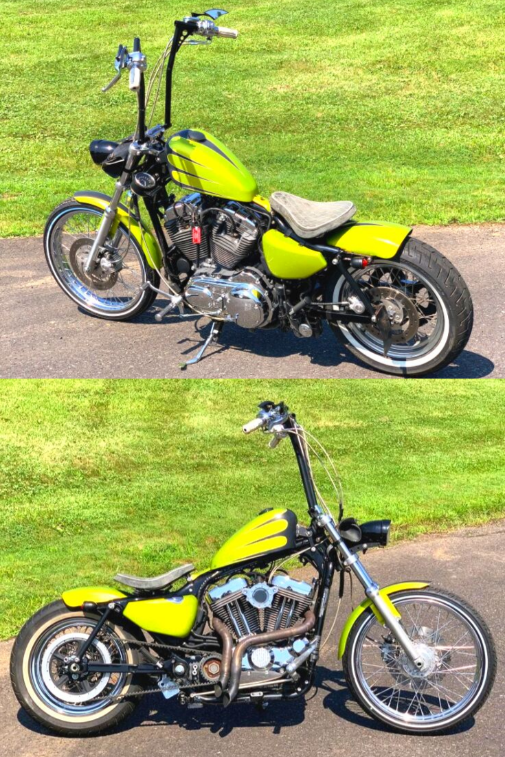 1200cc Engine. 7,064 Miles. Custom Electric Green Paint