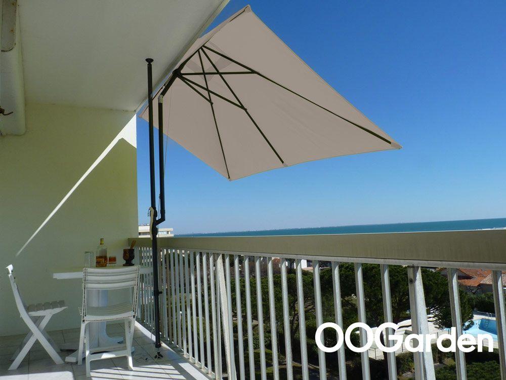 Parasol De Balcon Rectangulaire Leo Taupe Balkon