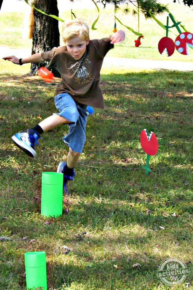 DIY Super Mario Party with Obstacle Course Super mario party