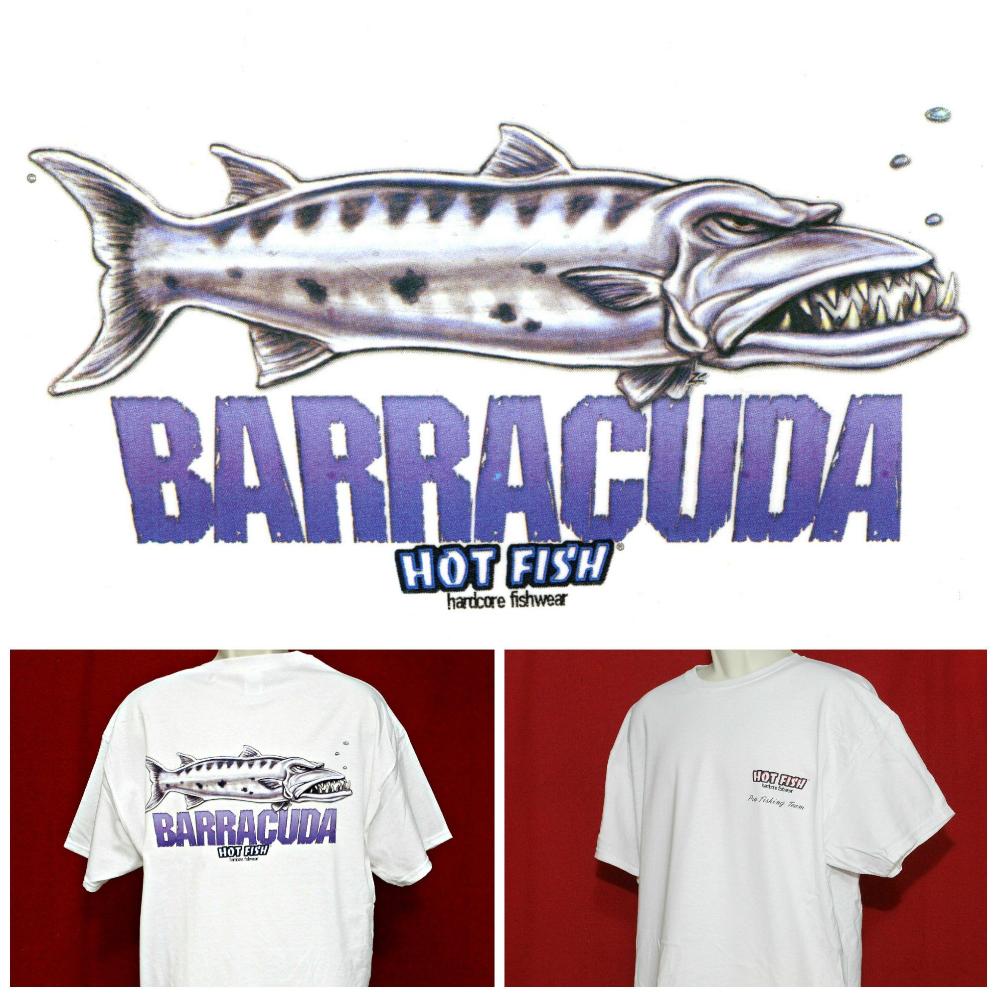 36fc80a98ac7 Grumpy Angry Funny Fish Shirt BARRACUDA Hot Fish Fisherman Fishing Gift T- shirt Nautical Design by GAFFShirts on Etsy