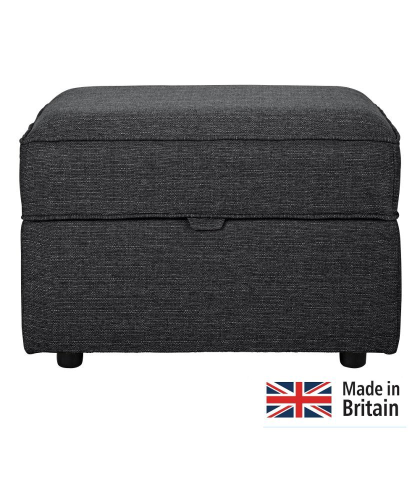 Buy Clara Fabric Footstool Charcoal At Argos Co Uk Your Online