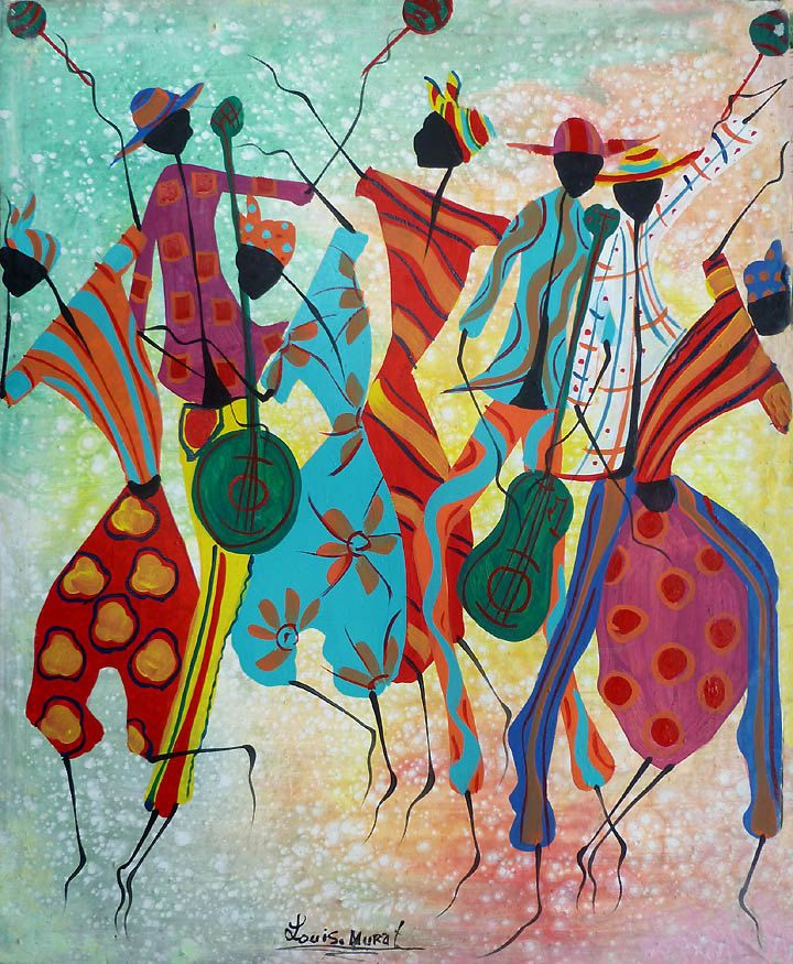 Haitian Painting, Haitian Women Dancing, Canvas Art, Wall ...