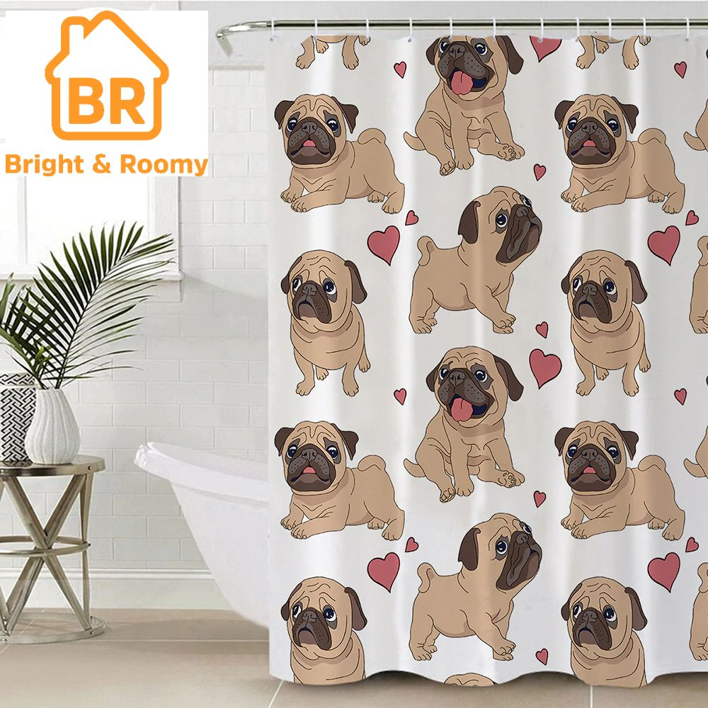 Order This Limited Editionhippie Pug Shower Curtain 1pc Now