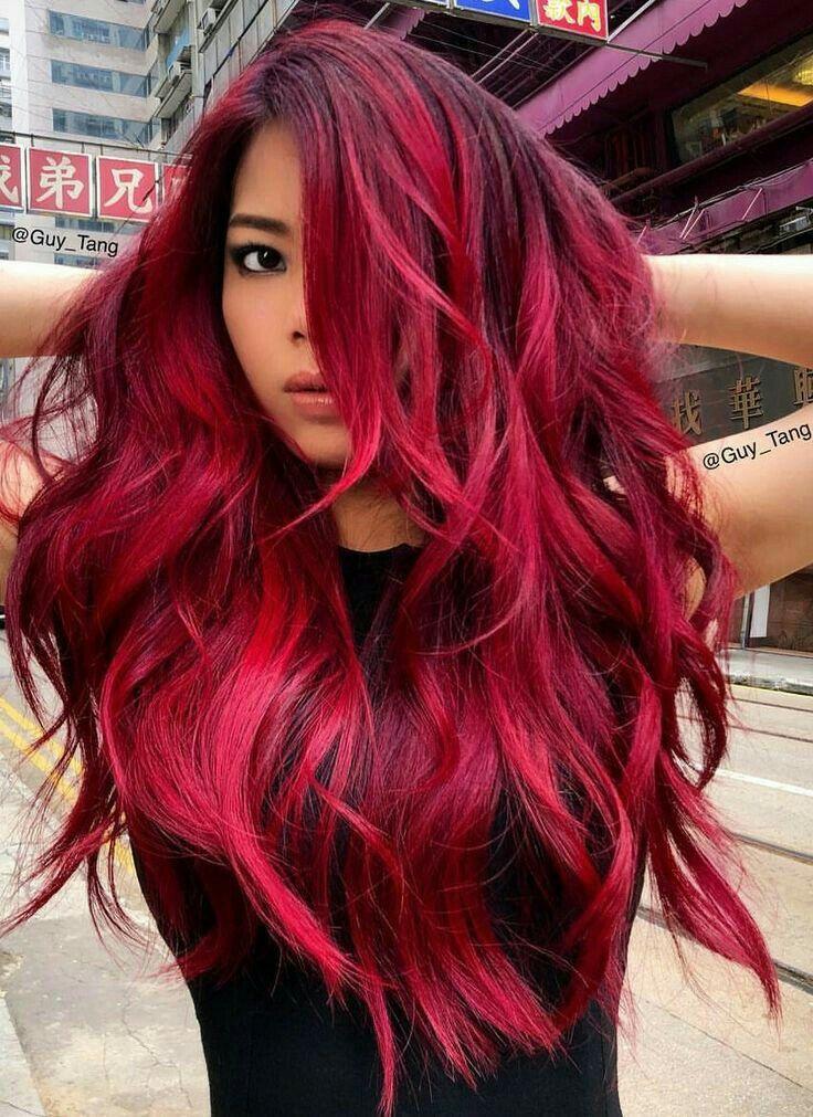 Fuschia Red Hair Color Ingwer Haarfarbe Haar Styling Rotes Haar Mit Strahnen