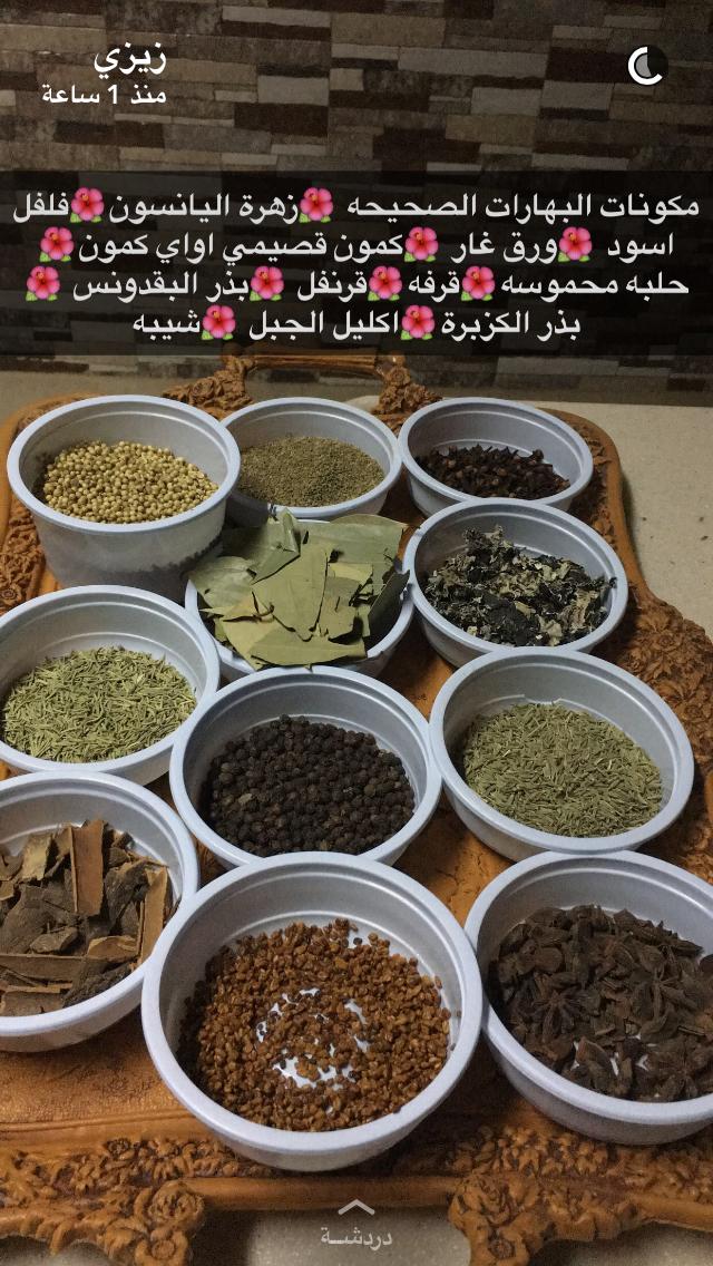 مكونات البهارات Spice Recipes Arabic Food Arabic Chicken Recipes