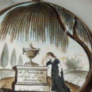 'A Parents Loss' Mourning Neoclassical 18th Century Miniature