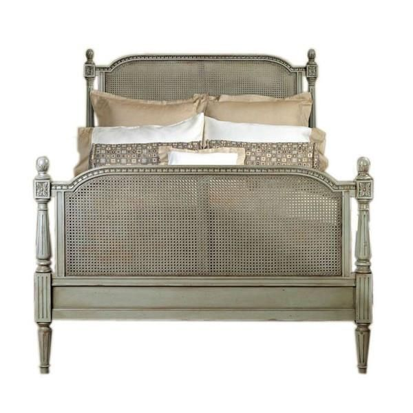 French Provincial Louis Xvi Style Cane, French Country Queen Bed
