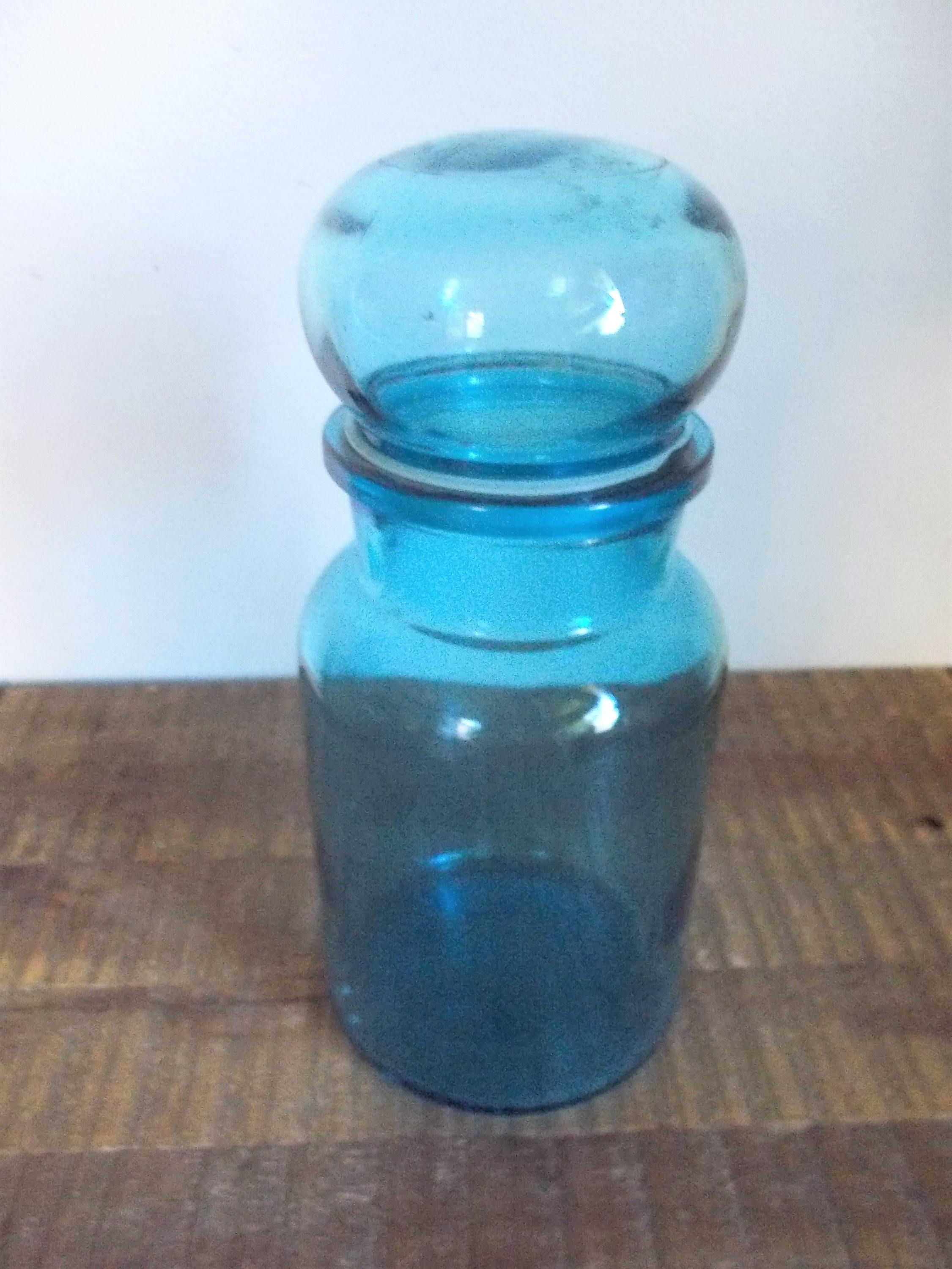 Vintage Large Blue Glass Apothecary Jar from Belgium | Glass ...