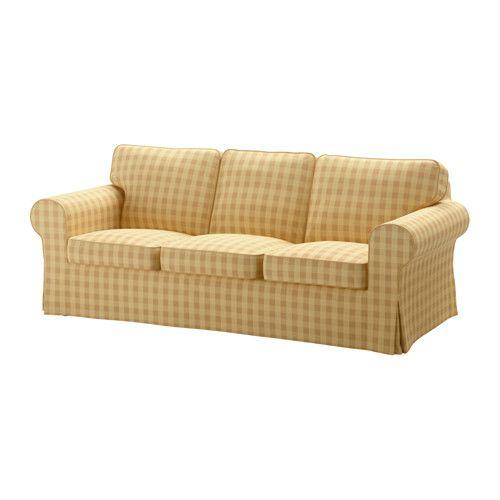 EKTORP Sofa cover Skaftarp yellow Ektorp sofa Ektorp sofa