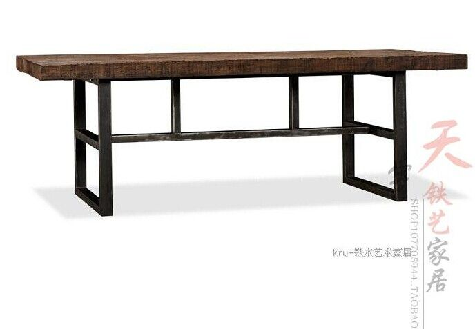 American Vintage Wood Dining Tables Wrought Iron Table To Do The