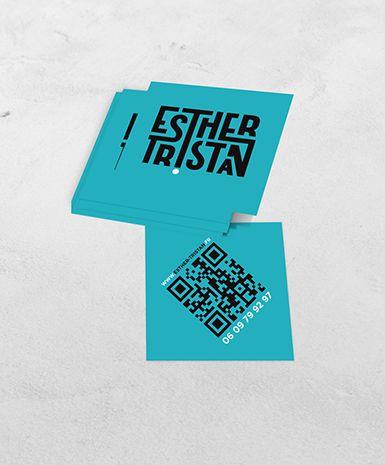 Logotype Carte De Visite Logo Branding Identitevisuelle Esthertristan Artiste Musique Chanteuse