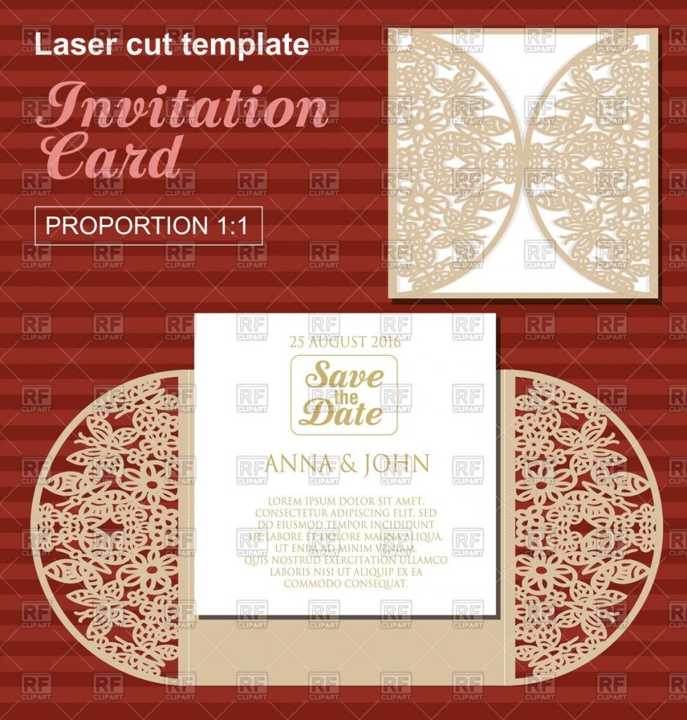 More Than 14 Irresistible die cut wedding invitation templates - die ...