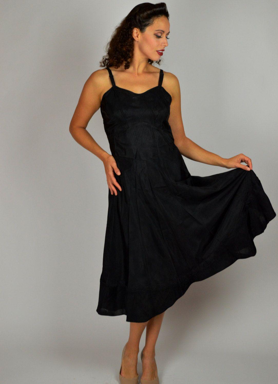 1930 S Black Slip Swing Slip Dress Vintage Slip Dress Fitted Slip Rayon Slip Size 36 By Buffalogalvintage Vintage Slip Dress Little Black Dress Slip Dress [ 1500 x 1083 Pixel ]
