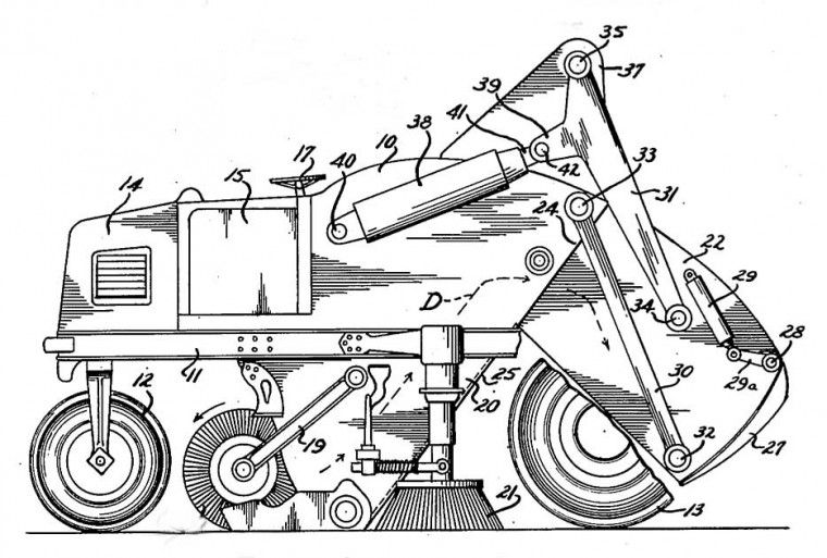 1948 Elgin Street Sweeper Patent Street Elgin Vintage