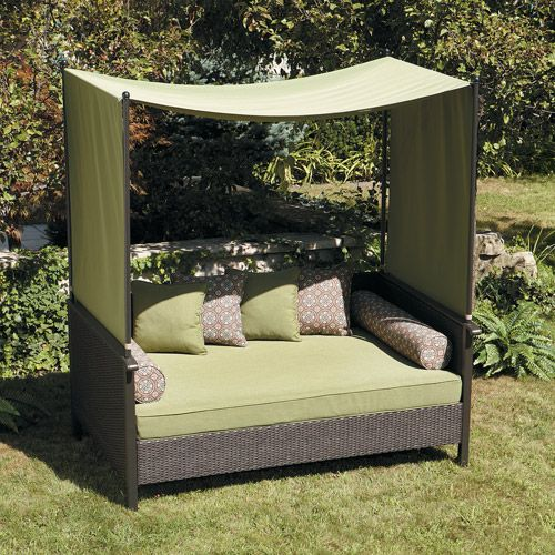 walmart outdoor furniture providence outdoor day bed green patio furniture walmartcom - Walmart Patio