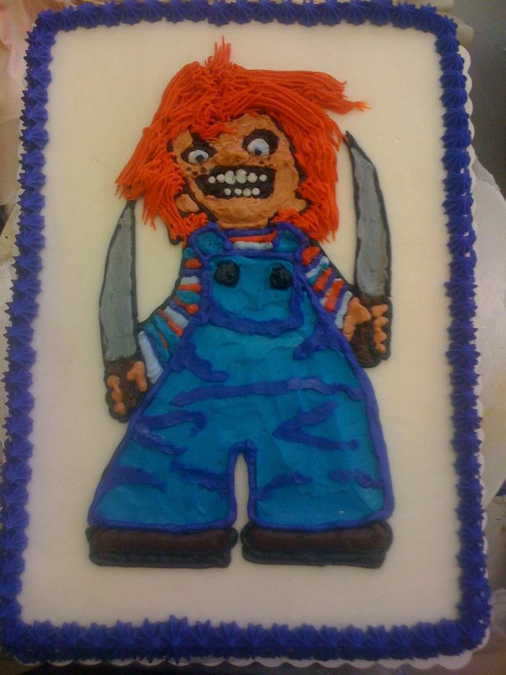 Chucky Birthday Cake My Creations Pinterest Chucky Birthday