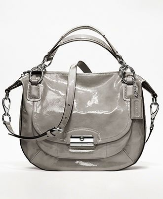 COACH KRISTIN PATENT LEATHER ROUND SATCHEL