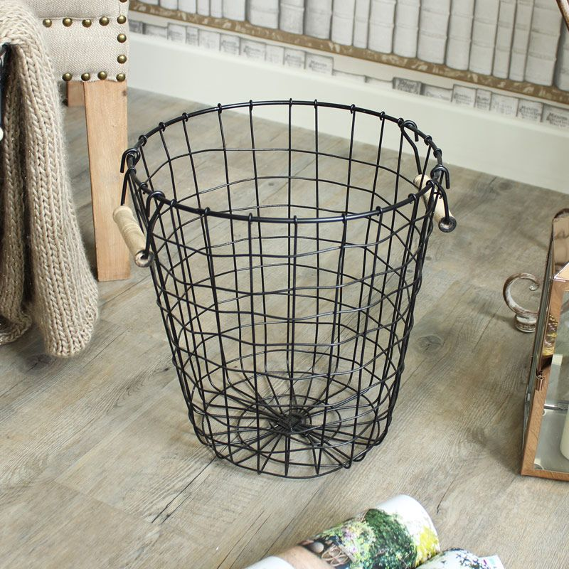Small Metal Wire Waste Basket