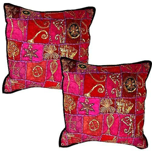 PANPAYLIA HAND MADE VINTAGE SARI CUSHION COVERS INDIA $2 65 each