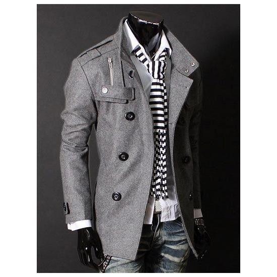 Szara Kurtka Meska A La Marynarka Japan Style 2014 3936425108 Oficjalne Archiwum Allegro Mens Outfits Well Dressed Men Fashion Stand