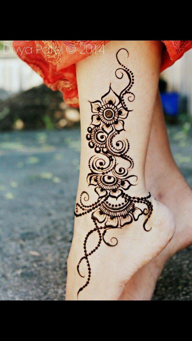 Lovely Ankle Design Henna Tattoo Designs Henna Tattoo Foot Henna