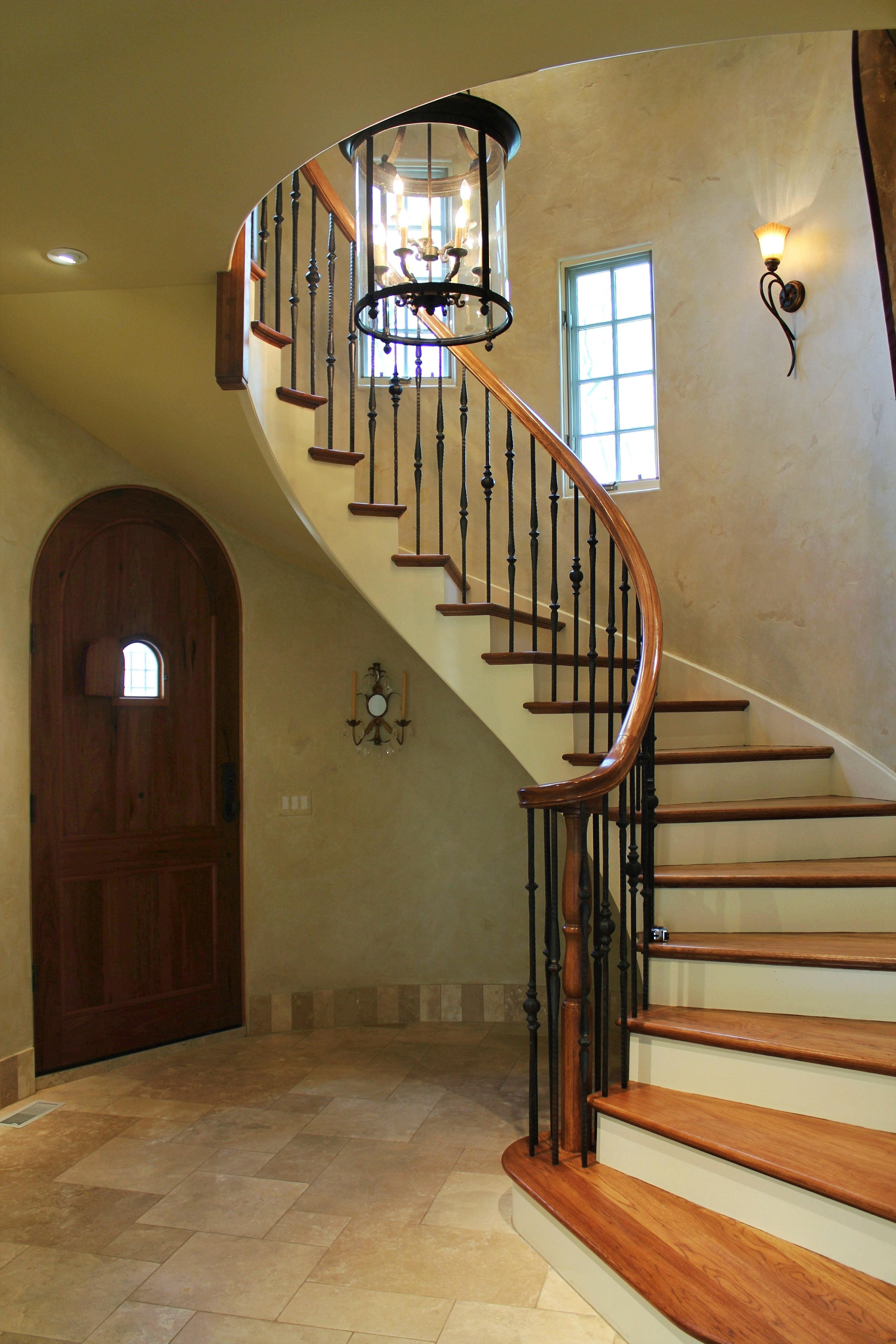 Best Amazing Spiral Staircase With Gorgeous Wooden Treads The 400 x 300