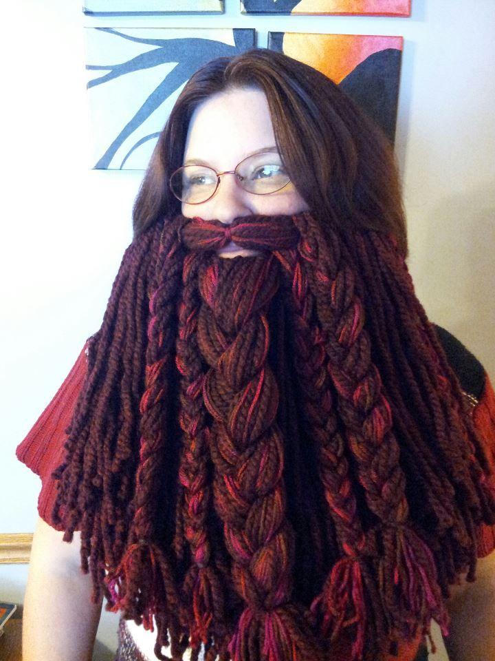 Epic Dwarf Beard Crochet Viking Hat aac67add474