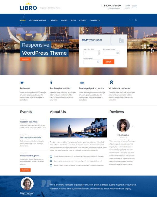 Libro-WordPress-Theme Travel Themes Wordpress theme, Wordpress