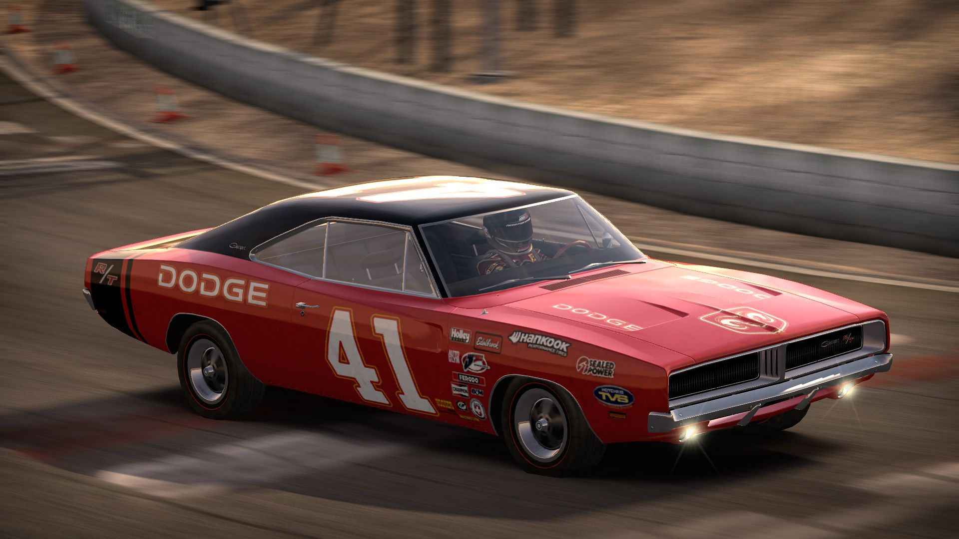 1969 dodge charger r t racing game graphic