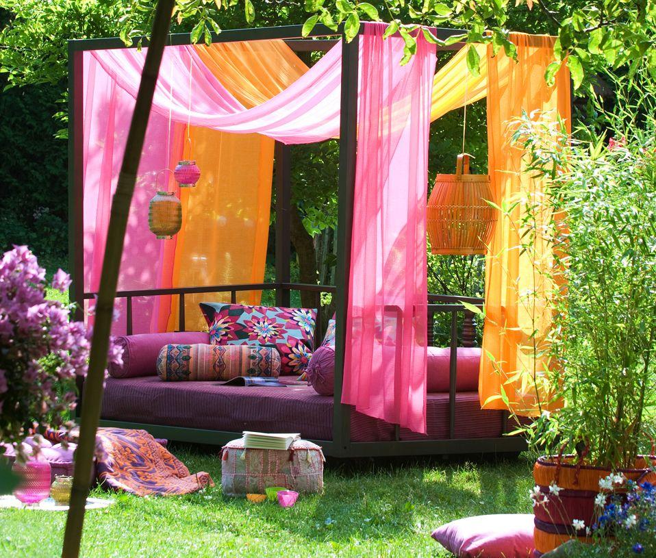 Indian Inspired Bollywood Colors Gorgeous Leben Unter Freiem Himmel Outdoor Dekorationen Haus Und Garten