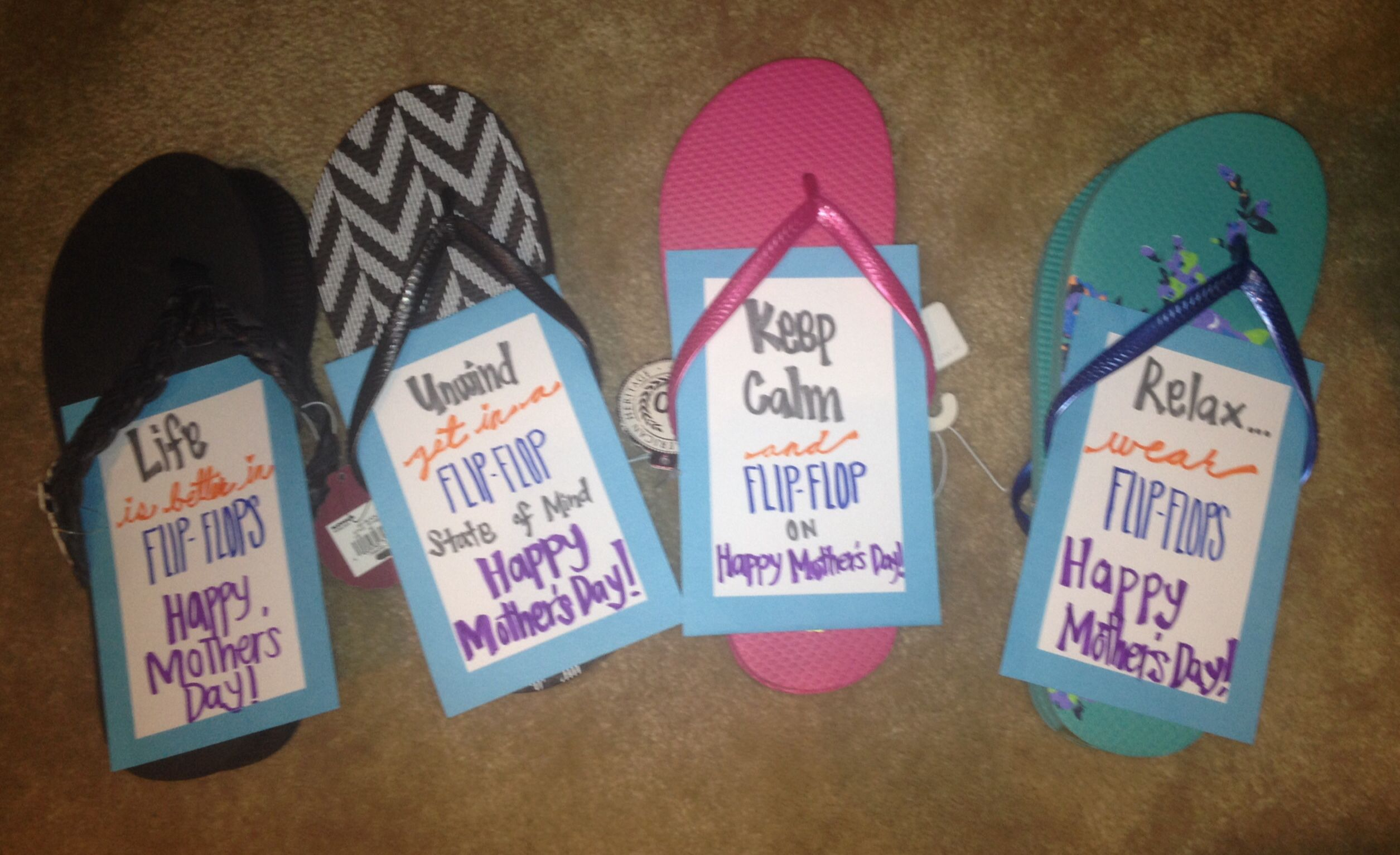Flipflops gifts for my sisters for mothers day was