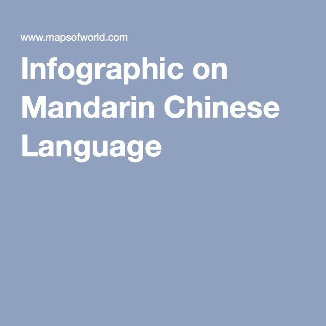 Infographic On Mandarin Chinese Language Mandarin Chinese
