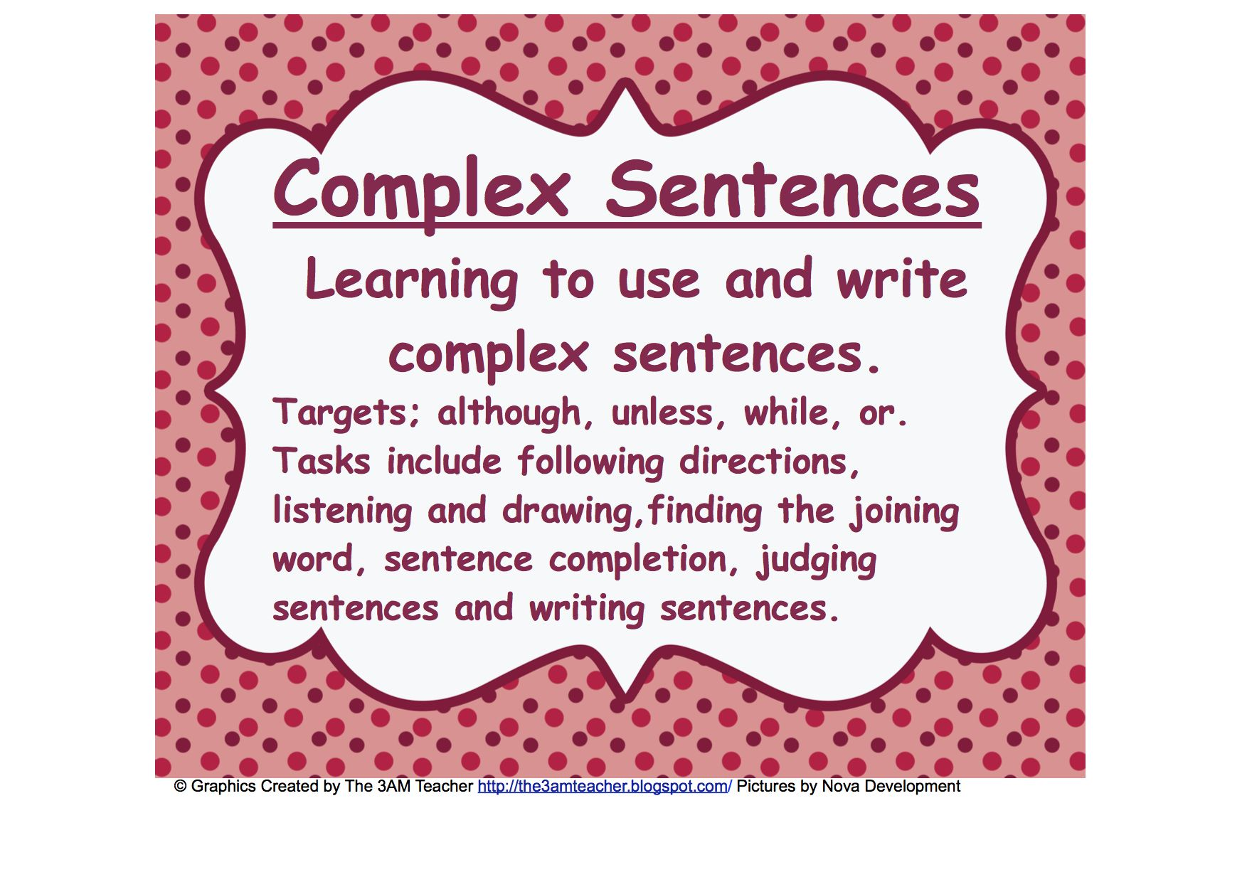 Understanding And Writing Complex Sentences