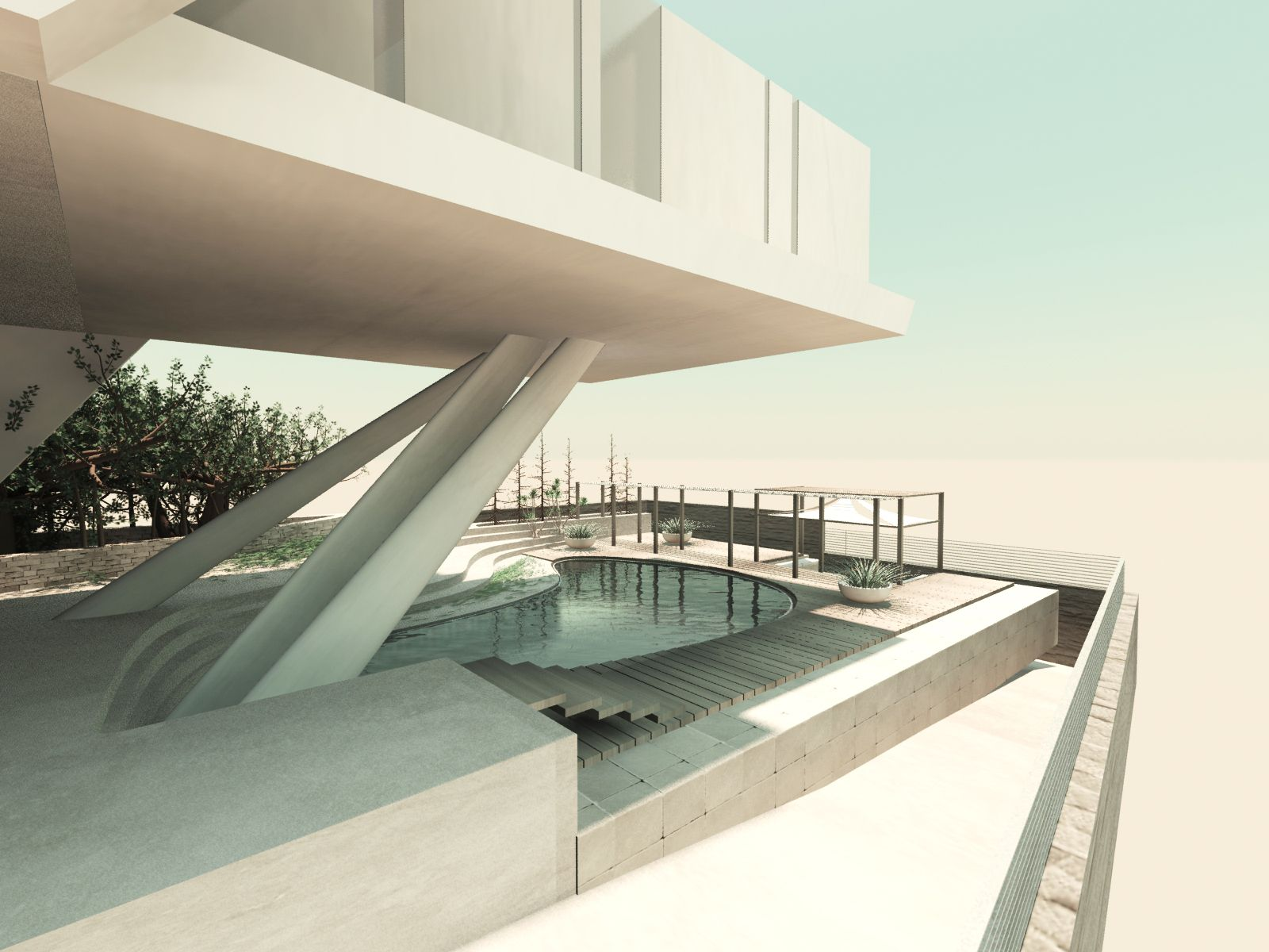 conceptual design of private villa - Conceptual Design House