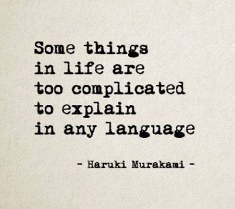 Some Things In Life Are Too Complicated To Explain In Any Language