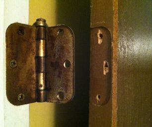 How To Repair Stripped Screw Holes For A Door Hinge Door Hinge Repair Door Hinges Hinges For Cabinets