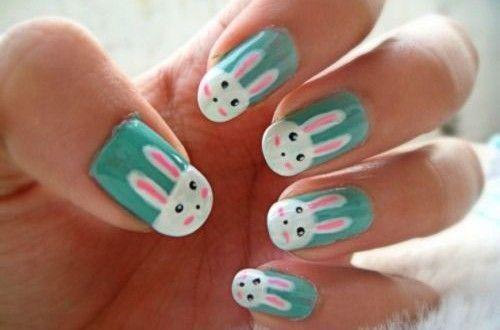 20 Diseños de Uñas con Conejos de Pascua - Ideas Tendencias y Pegatinas - Manicure