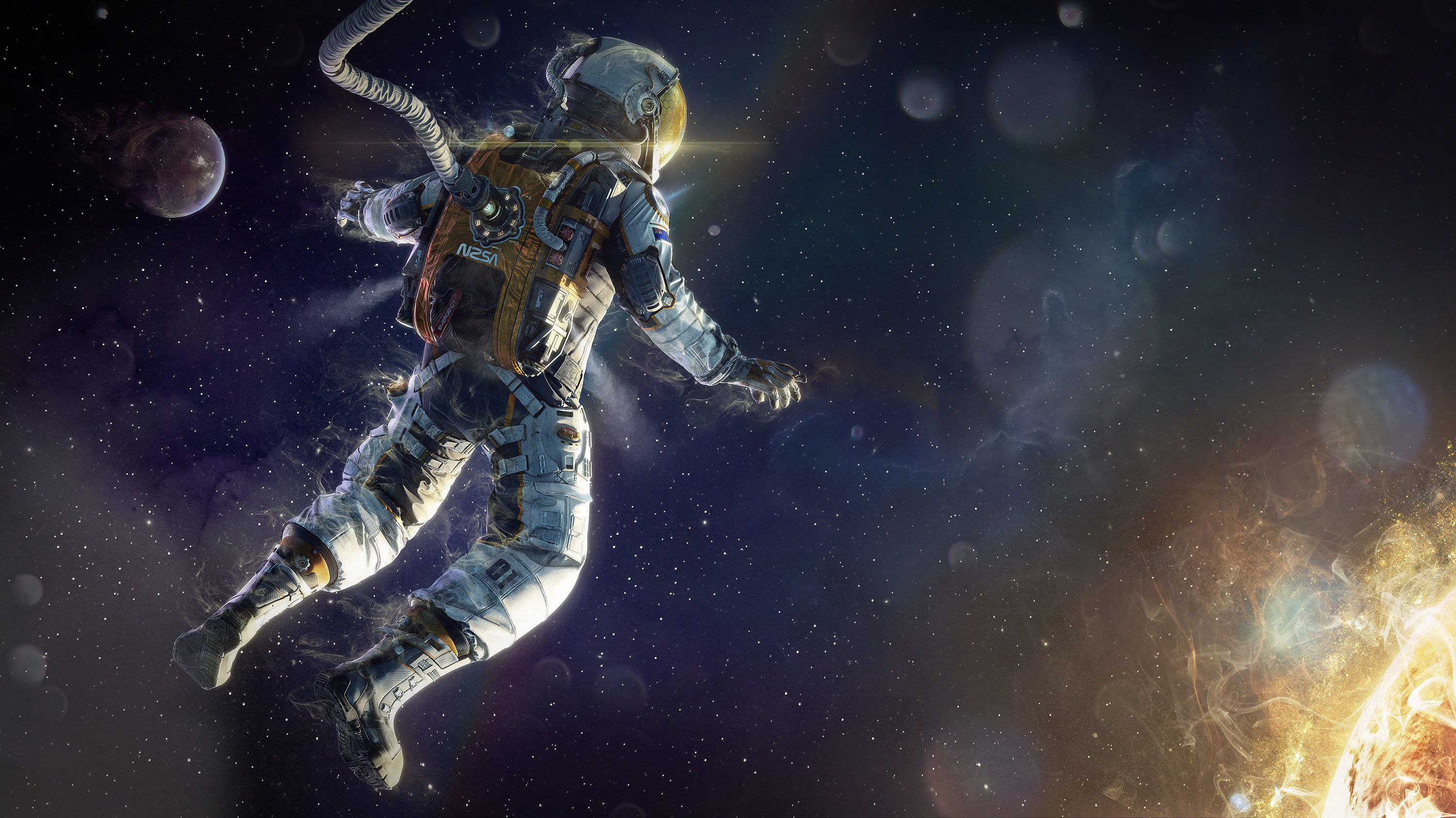 Art Astronaut Space Star Wallpaper 3000x1687 171704 Wallpaperup Astronaut Wallpaper Astronauts In Space Space Suit