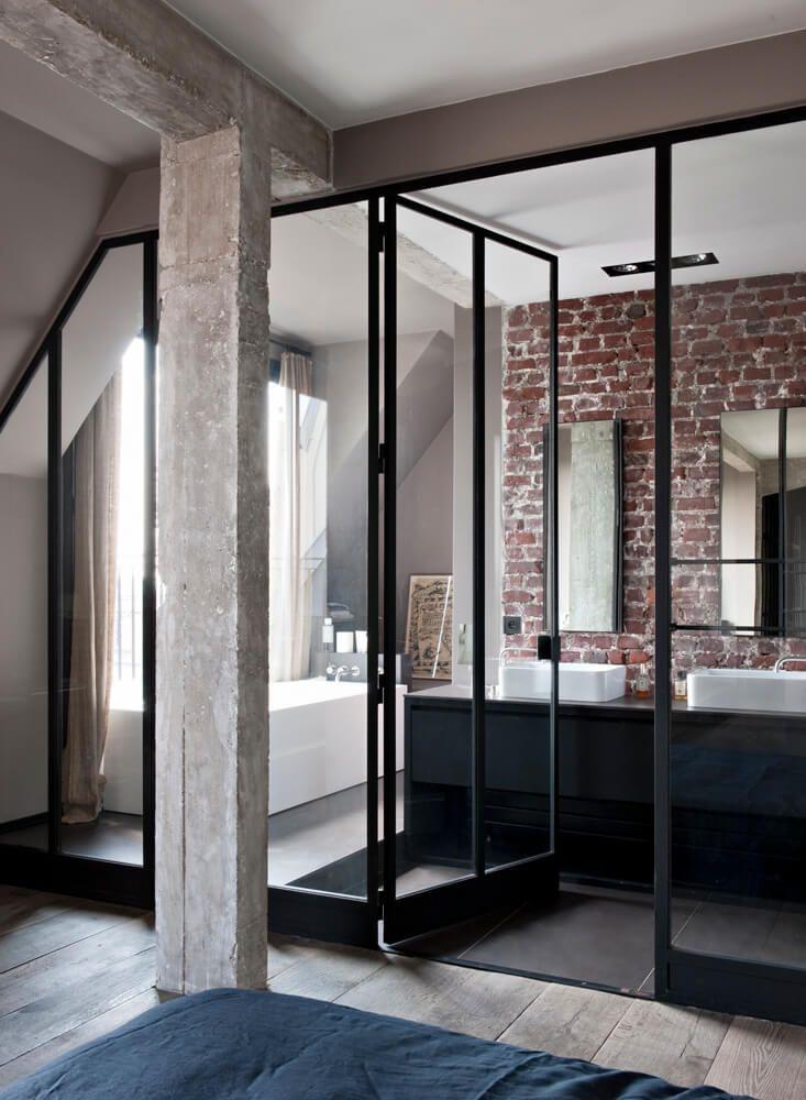 inspiration des portes vitrées style atelier